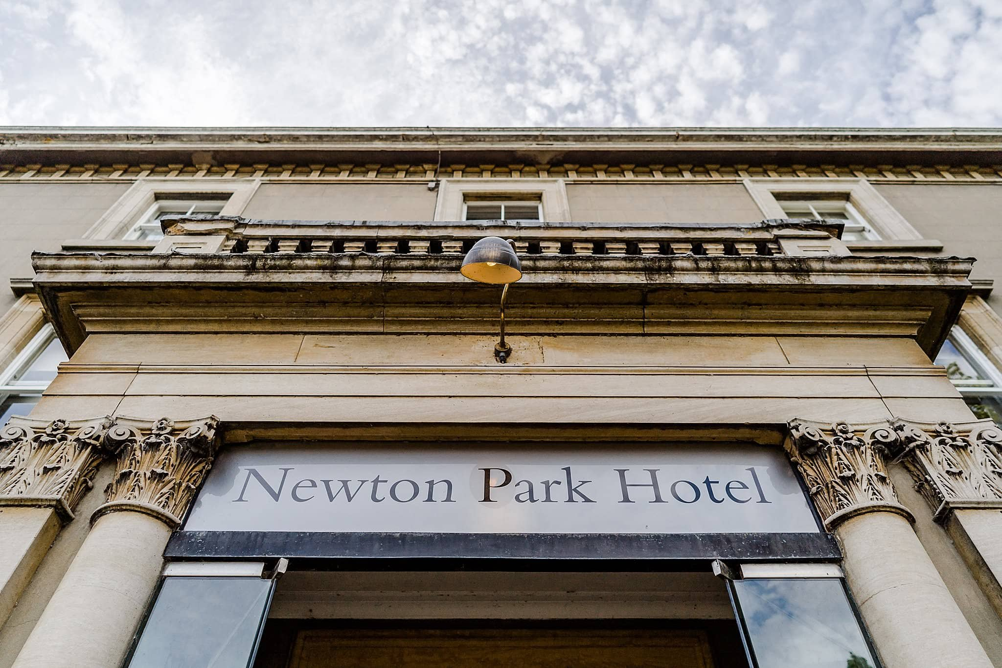 Front door of Newton Park Hotel