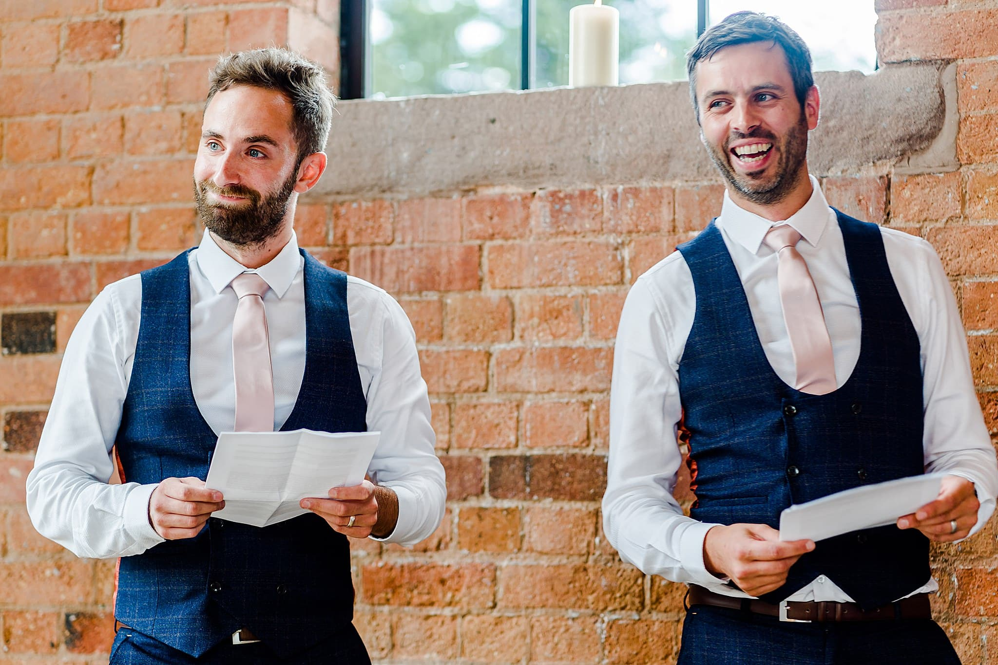 Bestmen give their speech at Carriage Hall