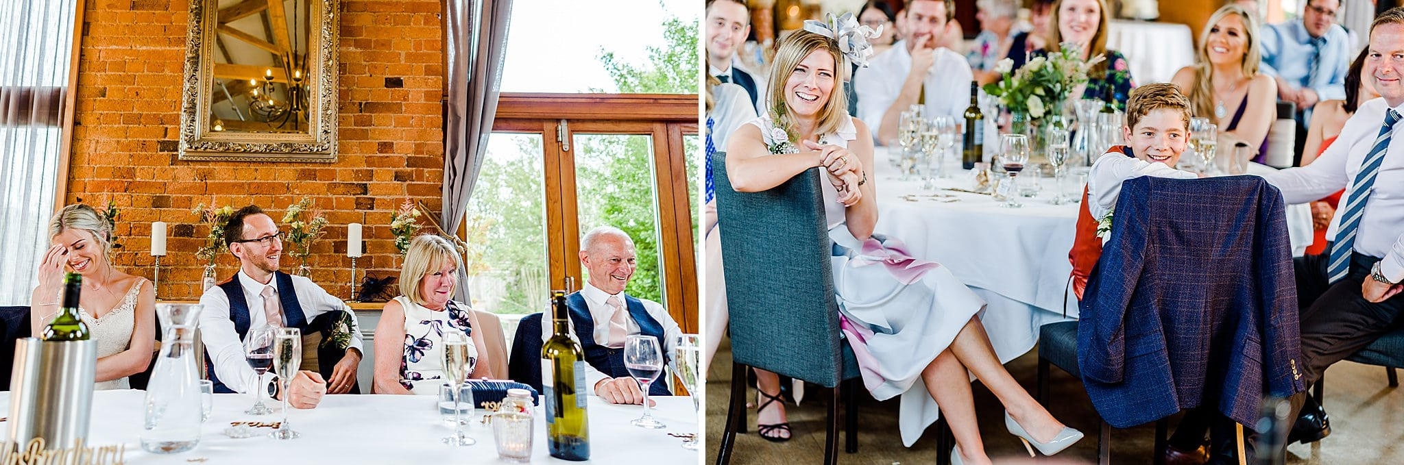 Wedding guests react to best man speech at Carriage Hall