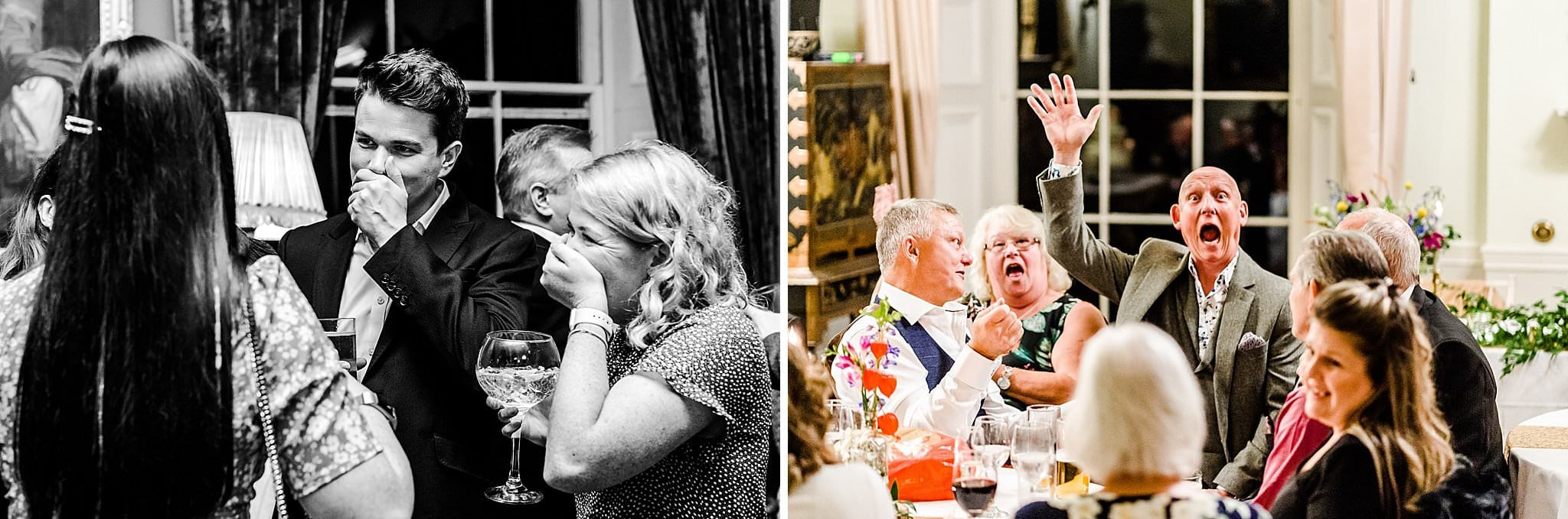 Candid guests caught joking around and having fun at Prestwold Hall