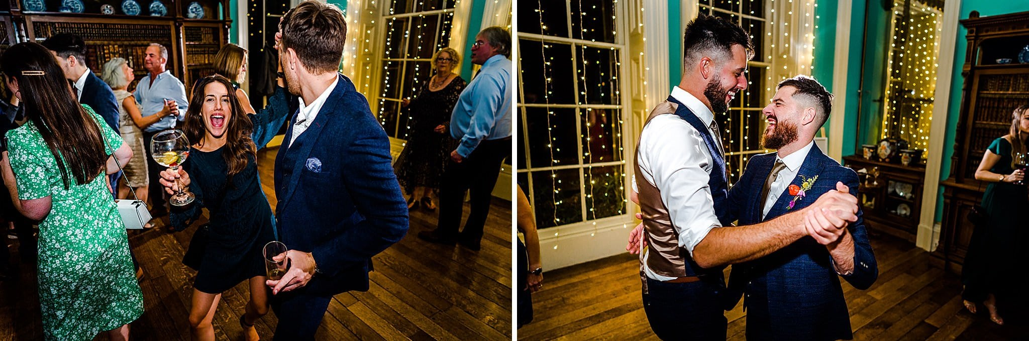 Groom dances with his best man at Prestwold Hall